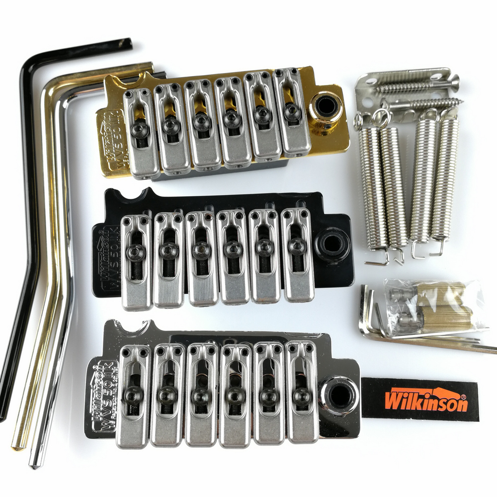 New Wilkinson WVS50IIK Electric guitar tremolo bridge Tremolo System silver Black and Gold genuine original floyd rose 5000 series electric guitar tremolo system bridge frt05000 black nickel cosmo without packaging