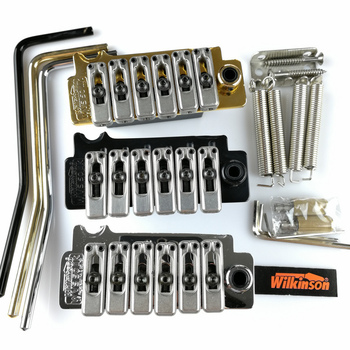 New Wilkinson WVS50IIK Electric guitar tremolo bridge Tremolo System silver Black and Gold hot electric guitar tremolo bridge systems gold color new