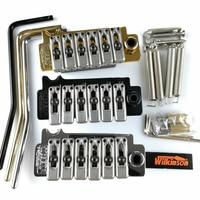 New Wilkinson WVS 50 II K Guitar Tremolo Bridge Kit Chrome Black And Gold Brand