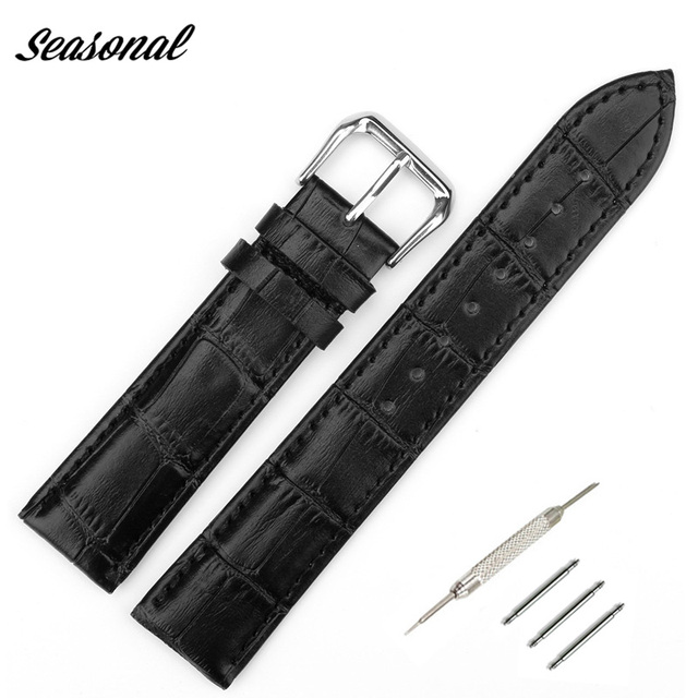 Genuine Leather Watchband Watchband Watchstraps 10mm 12mm 14mm 16mm 18mm 20mm 22
