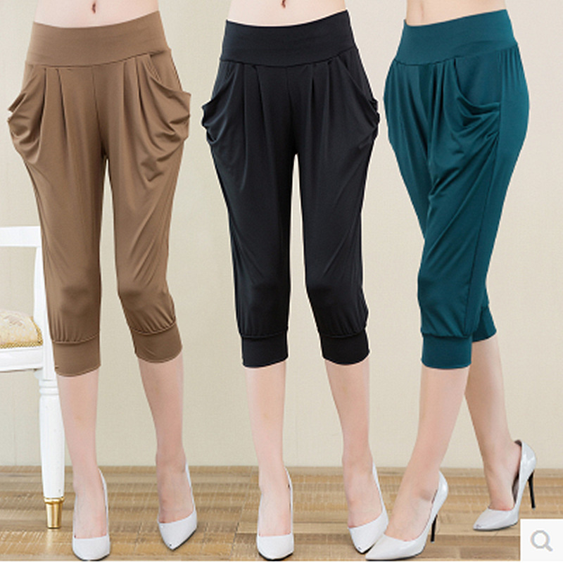 Fashion Summer Harem Pants Women Casual Pants Woman Wide Leg Loose Trousers Bloomers Pants Womens One Size in Pants amp Capris from Women 39 s Clothing