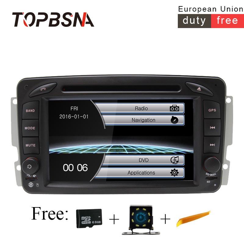 TOPBSNA 7 inch 2 Din Car DVD Player For Mercedes Benz CLK W209 W203 W168 W208 W463 W170 Vaneo Viano Vito W639 GPS Navi Car RadioTOPBSNA 7 inch 2 Din Car DVD Player For Mercedes Benz CLK W209 W203 W168 W208 W463 W170 Vaneo Viano Vito W639 GPS Navi Car Radio