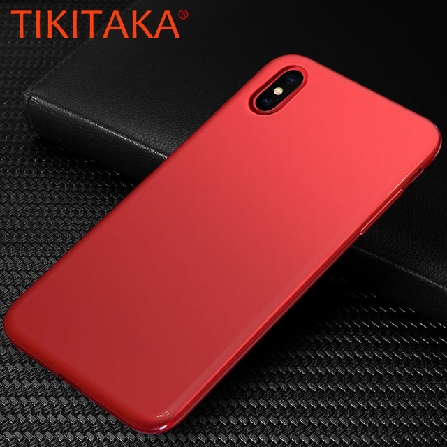 33d032c5c Slim Soft TPU Cover for Apple iPhone X Case Luxury CHINA Red Ultra Thin  Silicone Protective Phone Cases Shockproof Armor Shell