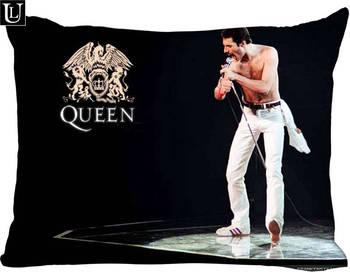Personnalisé Queens Freddie Mercury Rectangle taie d'oreiller zipper classique taie d'oreiller bricolage taie d'oreiller 20x30 pouces deux côtés