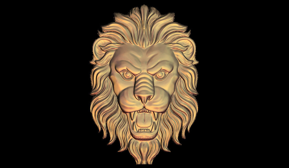 L57, 3d Lions Relief Sculpture Model CNC Router Milling Engrave STL File