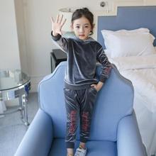 Kids Sports Suit for Girls Tracksuit 2-11Years Velvet Sweatshirts & Pants Baby Boys Autumn Casual 2Pcs Children Clothing Set стоимость