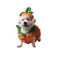 面白いハロウィン犬カボチャ衣装衣装犬帽子大きな大服のための黄金retrier冬暖かい犬ペット猫ジャケットコー
