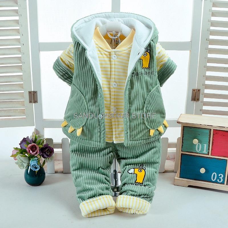 9e34fdaa24ba Newborn Clothes set Baby Boys Jumpsuit Girls Thicken Warm Rompers ...