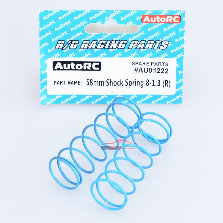 AutoRC A10 2pcs short card fittings Racing Parts AU01222 58mm Shock Spring 8-1.3(R)
