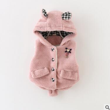2016 novo do inverno do bebê jaqueta colete de inverno o vestido da menina princesa roupas de lã colete marca das crianças 1-3 anos frete grátis