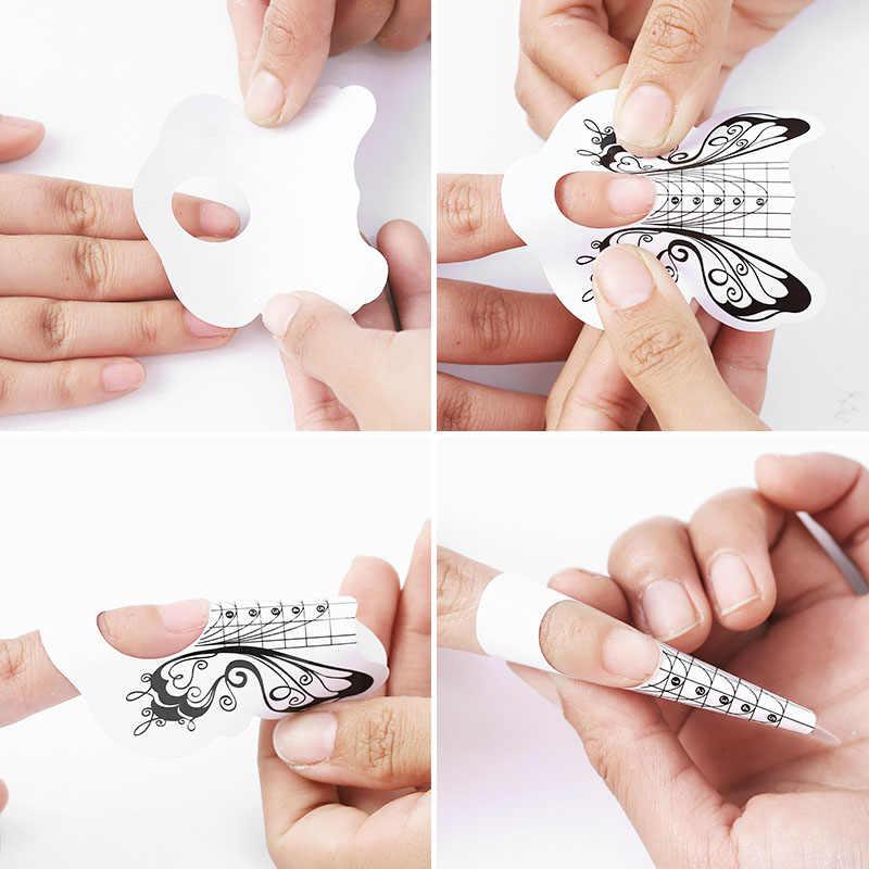 Dcovor Nail Art Alat Kuku Uv Gel Tips Ekstensi Pembangun Bentuk Panduan untuk Perpanjangan Kuku Stensil Manikur Alat