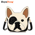 RoyaDong 2017 Women Bag Artificial Leather Dog Shape Cute Handbag Novelty Patchwork Bag For Teenage Girls