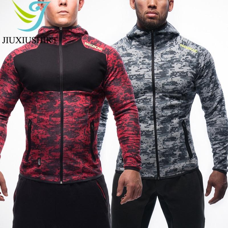 JINXIUSHIRT Muscle hommes Compression Sport costume à capuche collants peaux basket-ball chemises pantalon Jogging Gym Fitness Zipper course ensemble