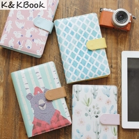 New Cute Creative Leather Notebooks Cartoon Personal Agenda Planner Organizer Diary Weekly Planner Filofax Stationery Gift