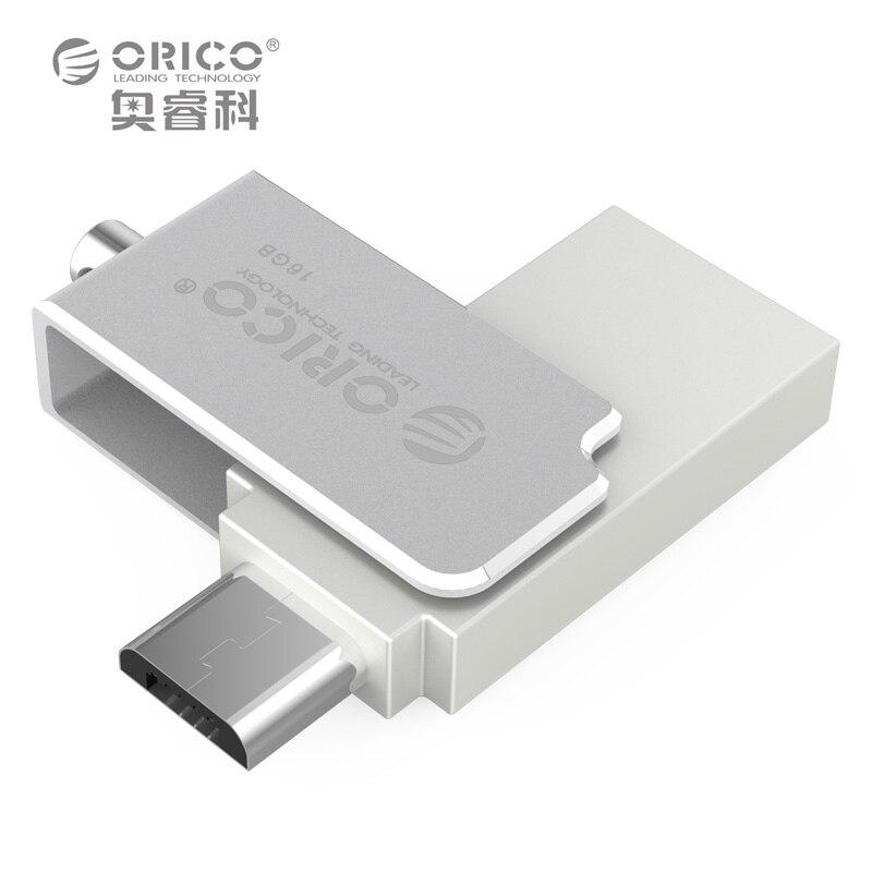 ORICO USB Flash Drives Mini Metal OTG U font b Disk b font 2 in 1