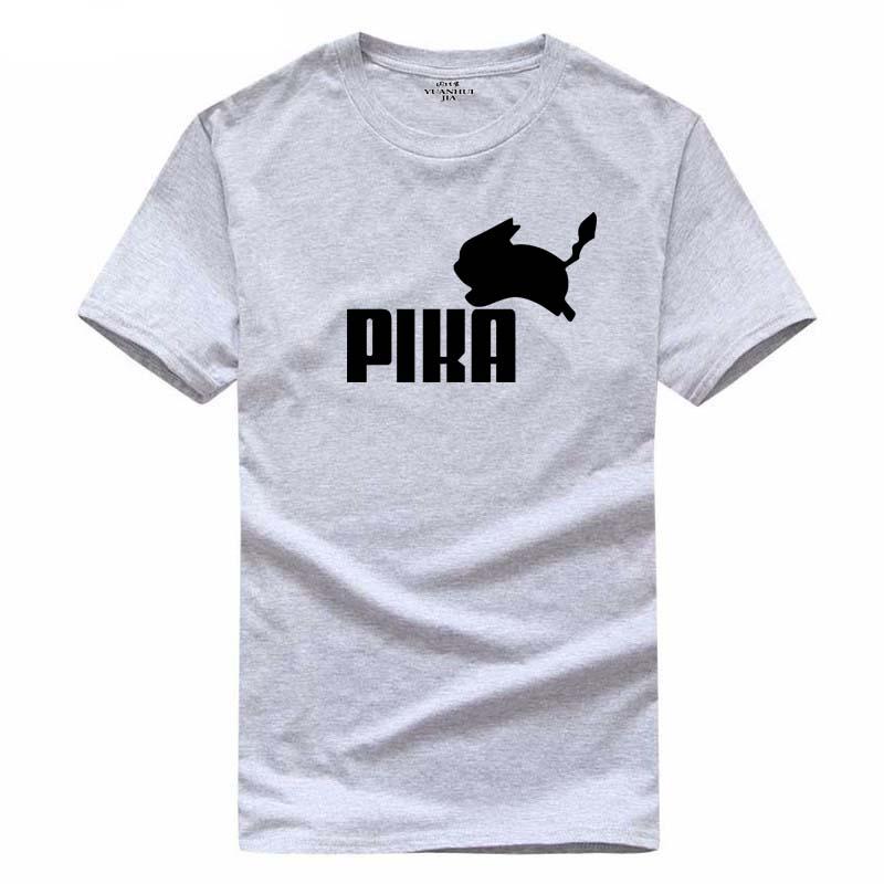 Pokemon T Shirt Anime Pikar Printing T-shirt Pika Comics Con Cosplay summer Skateboard Skate Boy Tee T-shirts Tops