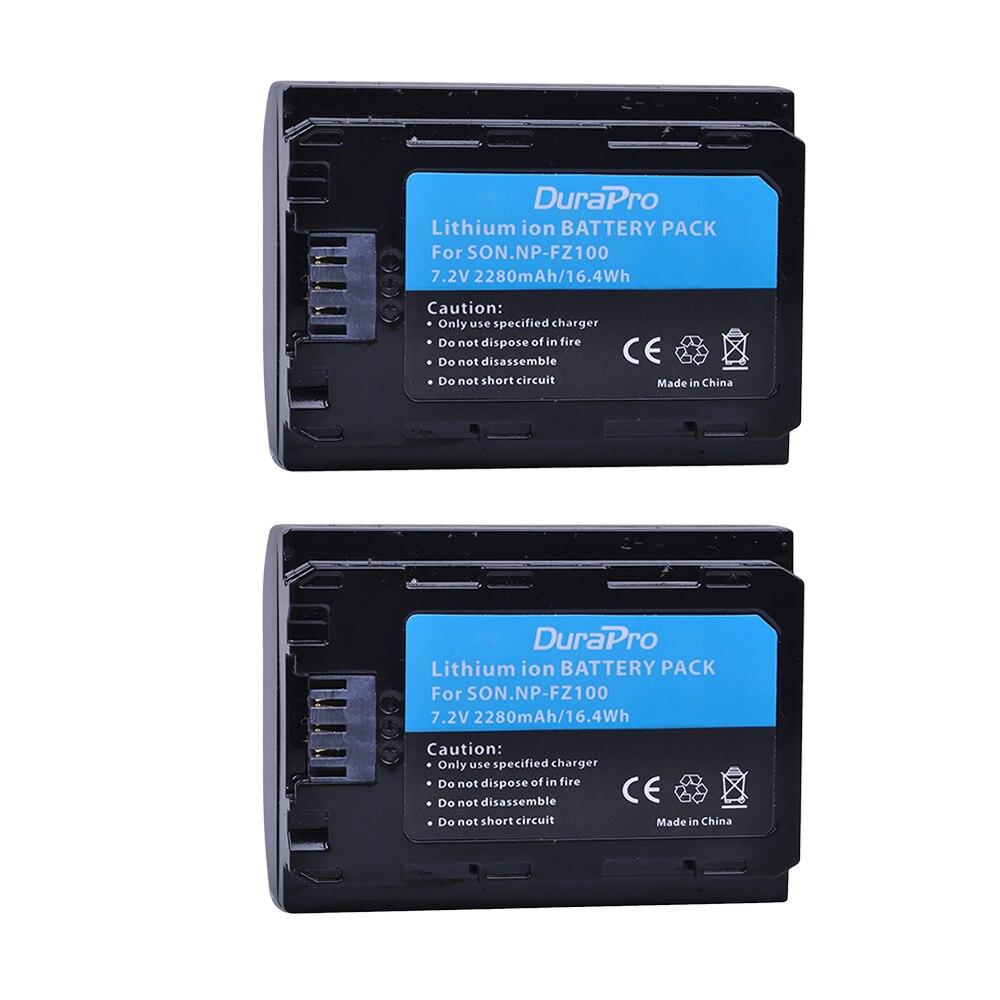 2pcs NP-FZ100 NPFZ100 NP FZ100 battery for sony FZ100 Battery R III III BC-QZ1 A9/A9R 9 9R 9S RM3 camera