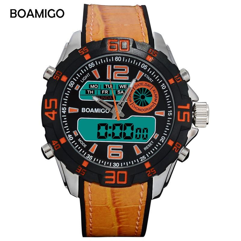 férfi digitális órák BOAMIGO márka férfi sport órák narancs - Férfi órák