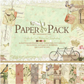 ENO Greeting Vintage Leisure Scrapbook Paper Pad with Alphabets Borders,Tags and Icons 12 Inch Page Kits for Scrapbooking