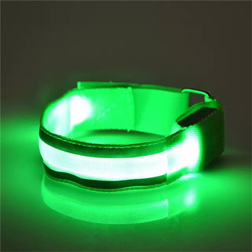 For Night Running Cycling Bike Bicycle light Reflective LED Light Arm Armband Strap Safety Belt  A2
