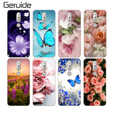 hot deal buy geruide for nokia 7.1 case 5.84inch cartoon patterned painted for nokia 7.1 case soft silicon tpu back cover case for nokia 7.1