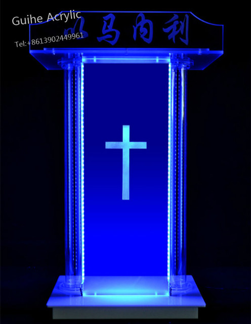 Customized Acrylic Podium Lecture Speaker For Church Wholesale Price