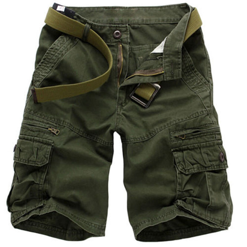2018 Mans Summer Cargo Shorts Outwear Casual Comfortable Male Shorts Size 30-40 5 Colors Army Green Black Dark Gray Gray Khaki