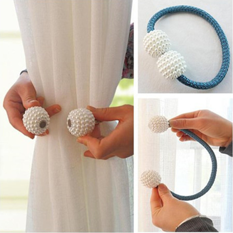 1pc Pearl Magnetic Curtain Clip Curtain Holders Tieback