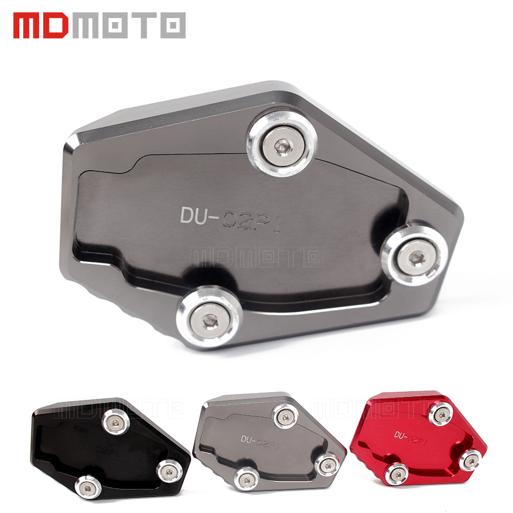 MDMOTO Motorcycle CNC Extension Side Stand Enlarge Plate pad For Ducati Multistrada 1200 1200S MONSTER 795