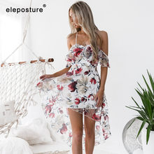 2019 New Beach Dress Ladies Bikini Cover Up Women Beach Cover Up Floral Print Swimsuit Bathing Suits Cover-Ups Tunics Beachwear(China)