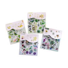 20pack/lot Creative plant Food Animal Flower sticker Lable Stickers Scrapbooking Self-adhesive DIY Deco Diary