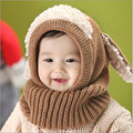 Enduring New Winter Baby Kids Girls Boys Warm Woolen Coif Hood Scarf Caps Hats