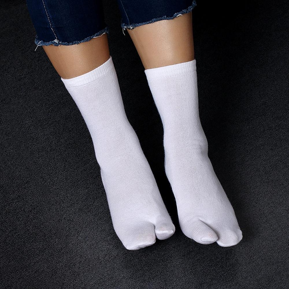1 Pair New Fashion Hot Sell Unisex Japanese Kimono Flip Flop Sandal Split Two Toe Tabi Ninja Geta Socks
