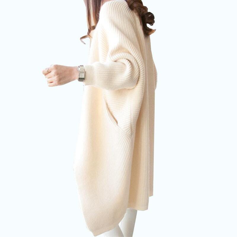 2019 Women Long Cardigans Autumn Winter Stitch Poncho Knitting Sweater Female Over Sized Shawl Cape Jacket Coat Trench Parkas