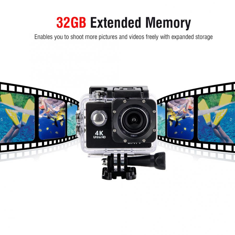 HTB1 D QXvc3T1VjSZPfq6AWHXXaG 4K HD WiFi Camera 30M Waterproof Housing Two Battery Bike Mount Kit 4K video and 12MP photos Wide angle lens