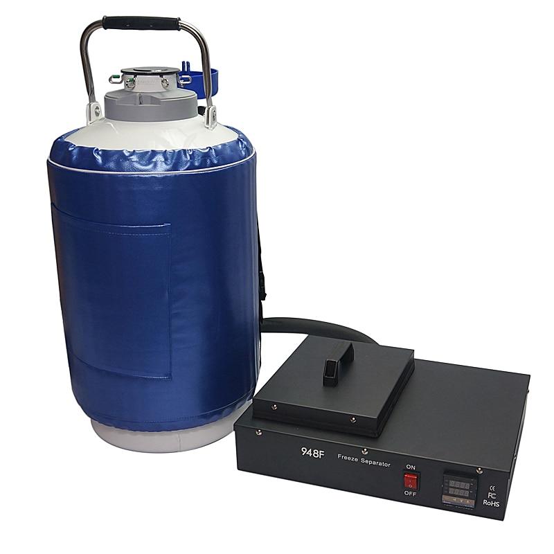 FS-06 Nitrogen Frozen LCD Separating machine 2 in 1 pack with oil-free pump with 10L liquid nitrogen tank For 9 inch nitrogen transformation in vertisol under soybean wheat system
