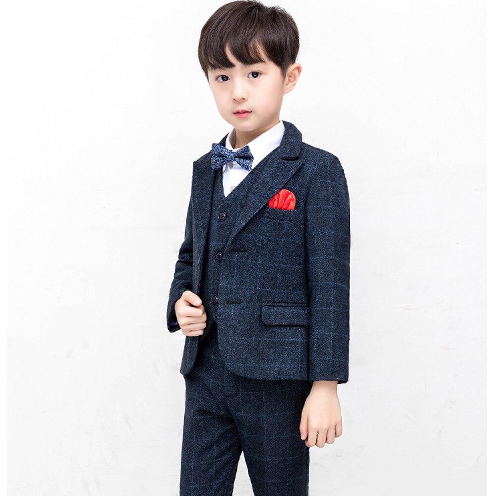 c1ae921cd 2019 New Brand Kids Plaid Wedding Blazer Suit Boys 4 pcs/set Formal Tuxedos  School Suit Teenager Spring Clothing Set for Party - aliexpress.com -  imall.com