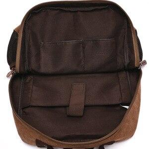Image 5 - MARKROYAL yeni erkek keten sırt çantası omuzdan askili çanta öğrenciler eğlence çantası bilgisayar çantası okul Mochila gençler 15 inç Laptop sırt çantası