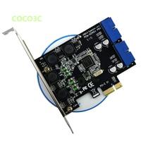PCI Express 2 Port 19Pin USB 3.0 Card PCI e to Internal 20Pin Male Ports Adapter Super Speed 5Gb/s NEC D720201