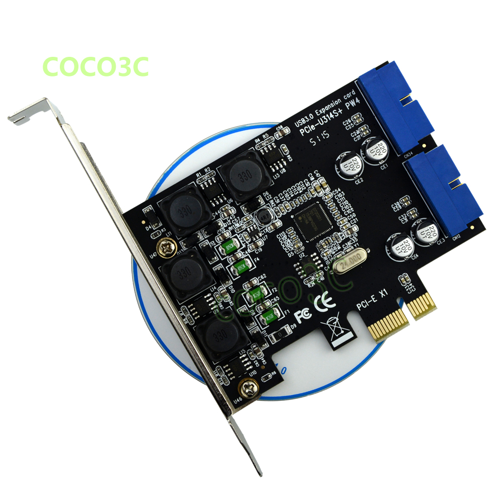19pin de Cartão – e to Express Porto 3.0 Interno 20pin Macho Portas Adaptador Super Velocidade 5 gb – s Nec D720201 Pci 2 Usb