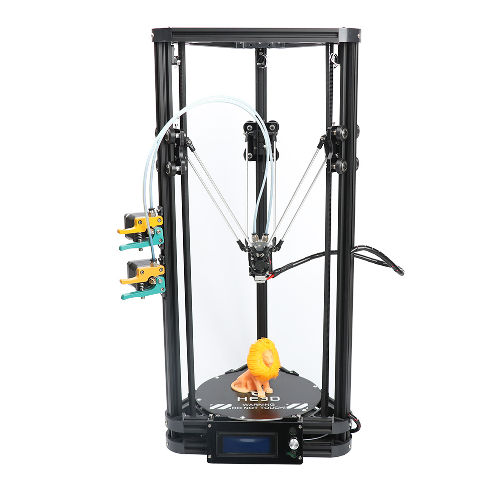 HE3D autolevel K200 2 in 1 out extruder DIY delta 3d printer kit support multi material