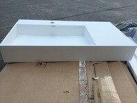 Rectangular Matt Solid Surface Stone Counter Top Wash Sink Bathroom Corian Stone Washbasin RS3815 973
