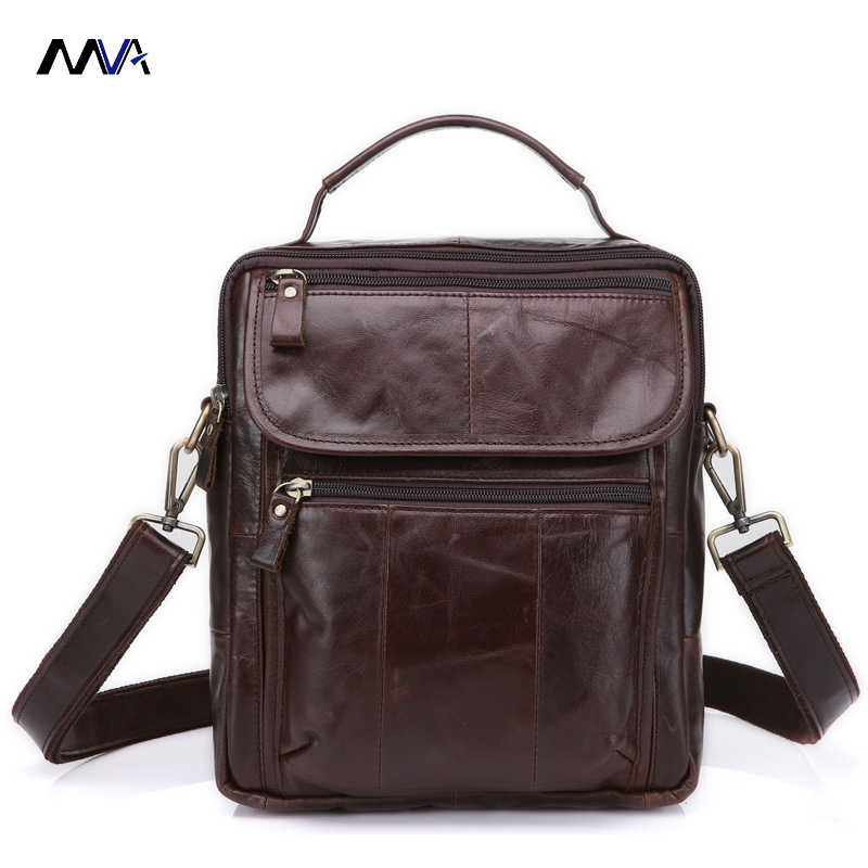 MVA Men Genuine Leather Bag Shoulder Crossbody Bags Messenger Small Flap Casual Handbags Male Leather Bag Top-handle Men Bags contact s genuine leather men bag male shoulder crossbody bags messenger small flap casual handbags commercial briefcase bag