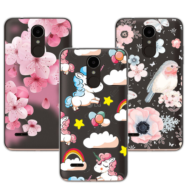 innovative design b5319 00bfb US $1.11 35% OFF|Cute Animal Case Fundas For LG K7 2017 Soft Silicone  Flowers 3D Relief Lace Case Cover For LG K7 2017 LGX230 LG X230 5.0