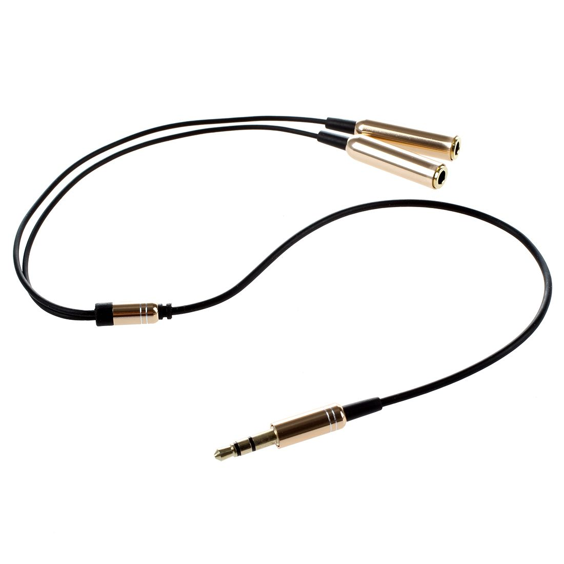 3 5 Mm Dual Connector Male Female Jack Adapter Cable Audio
