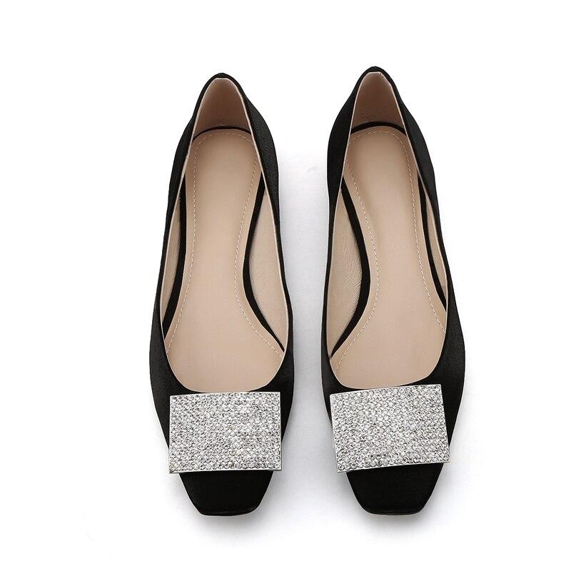 Echtem Heels Apricot Zyl2082 on Schuhe black 40 Karree Frauen Enmayla Größe Casual Interne Erhöhte Slip Leder 34 qwZdCp