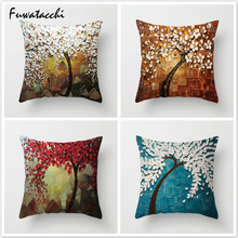 Fuwatacchi Flower Pillow Cover Multi Color Floral Printed Cushion Pink Throw Pillows Decorative Pillowcase for Home Sofa