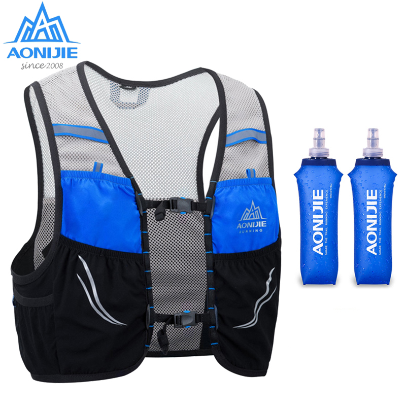 Aonijie Trail Running Vest Backpack 2.5L Ultra Running Hydration Vest Pack Marathon Running Rucksack Bag 500ml Soft Flask