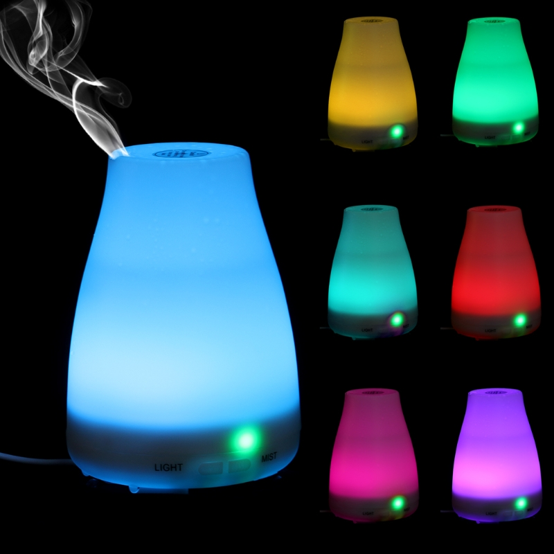 100Ml Aroma Diffuser Electric Air Humidifier Essential Oil Mist Maker 7 Colors LED Humidifier Home Office Appliance