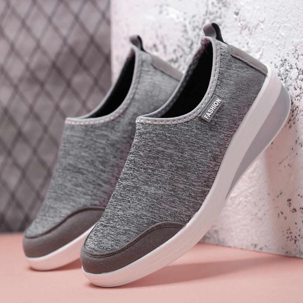 KANCOOLD Frauen Freizeit Mesh Schuhe Atmungsaktive Flache Boden Sportschuhe Leichte Hohe Qualität Elastische Damen Turnschuhe